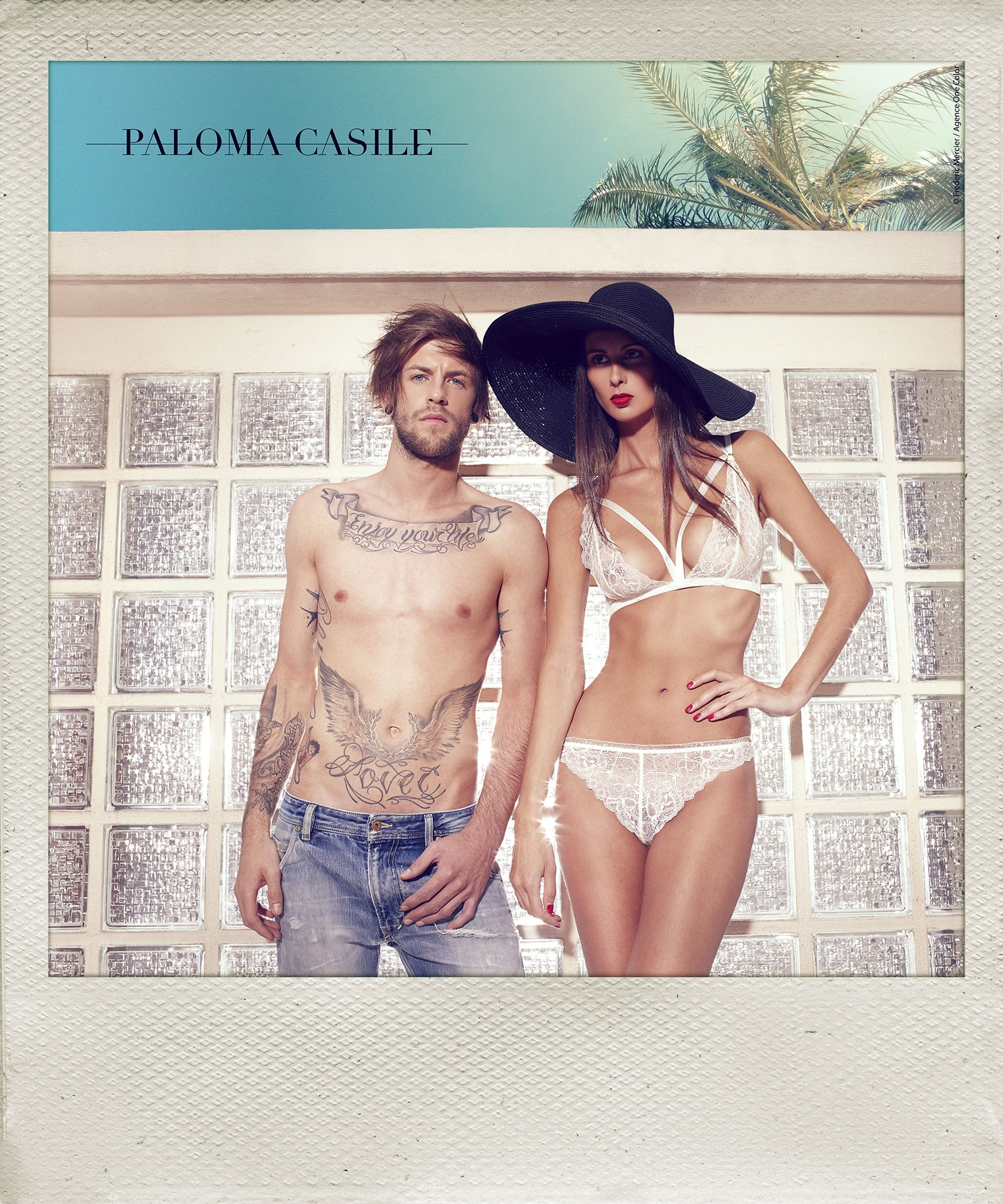 paloma casile ss 2014 campaign lingerie underwear frederic mercier fashion photographer one color