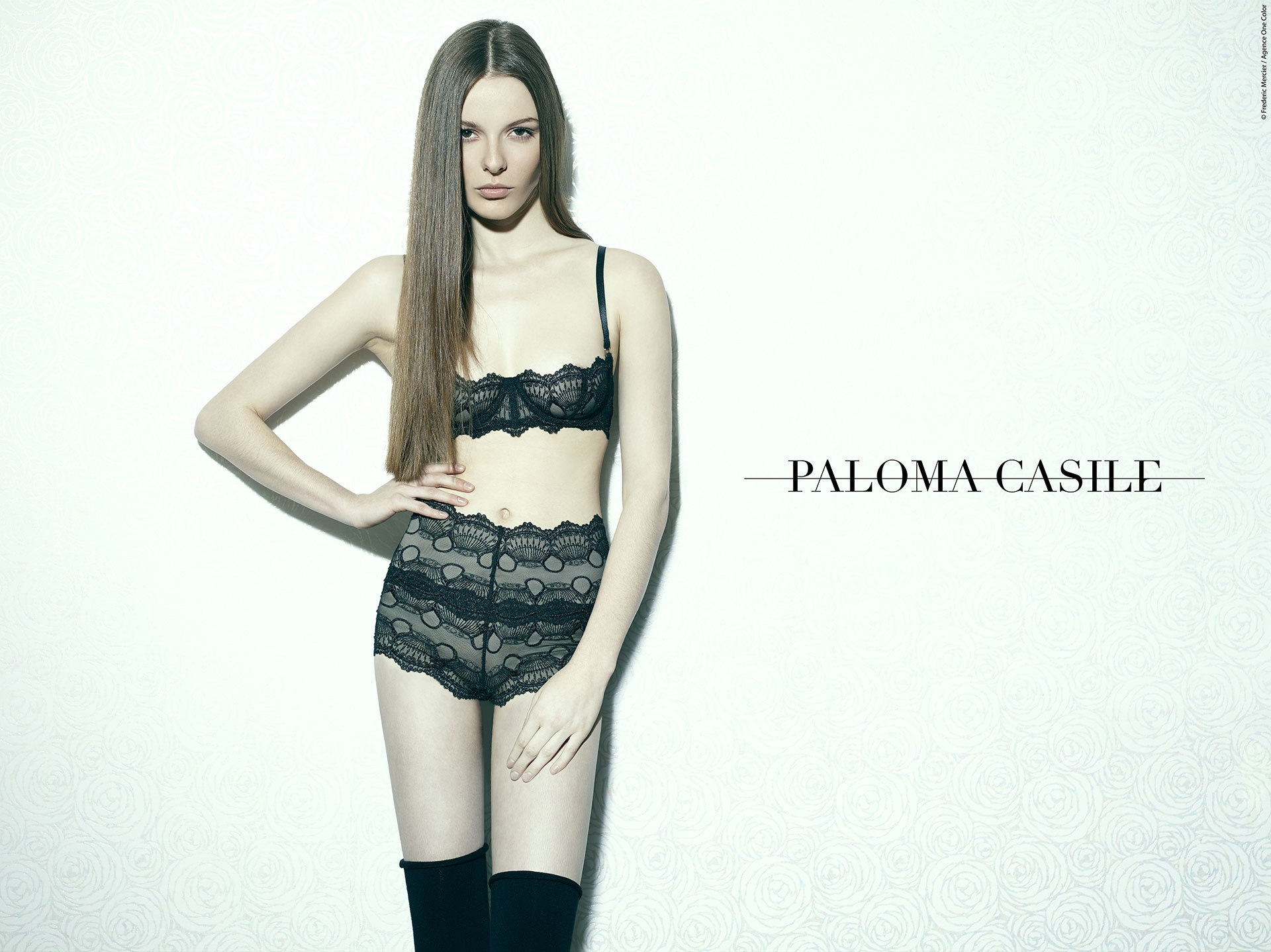 paloma casile aw 2014 campaign lingerie underwear frederic mercier fashion photographer one color