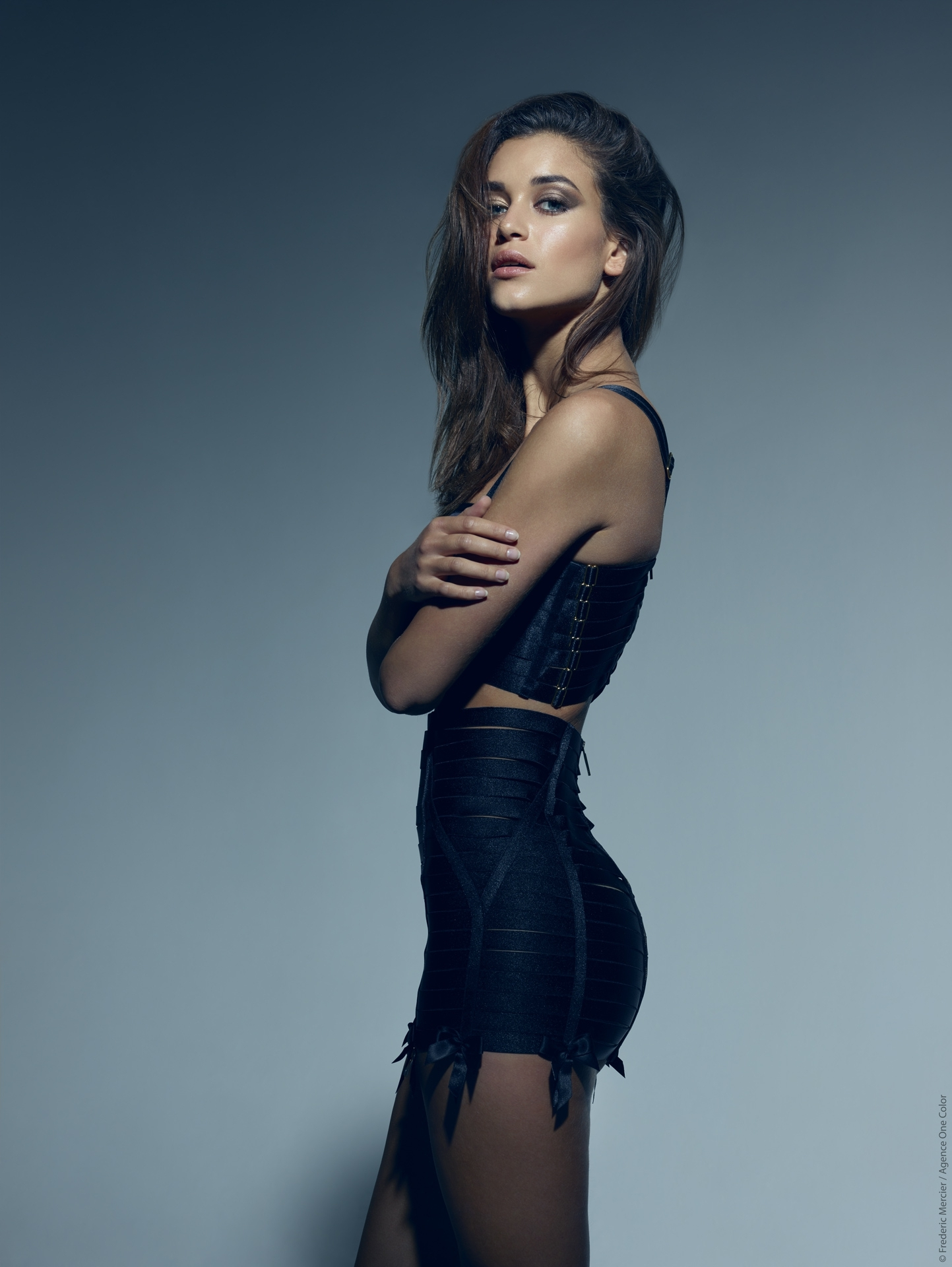editorial model bordelle lingerie frederic mercier photographer one color