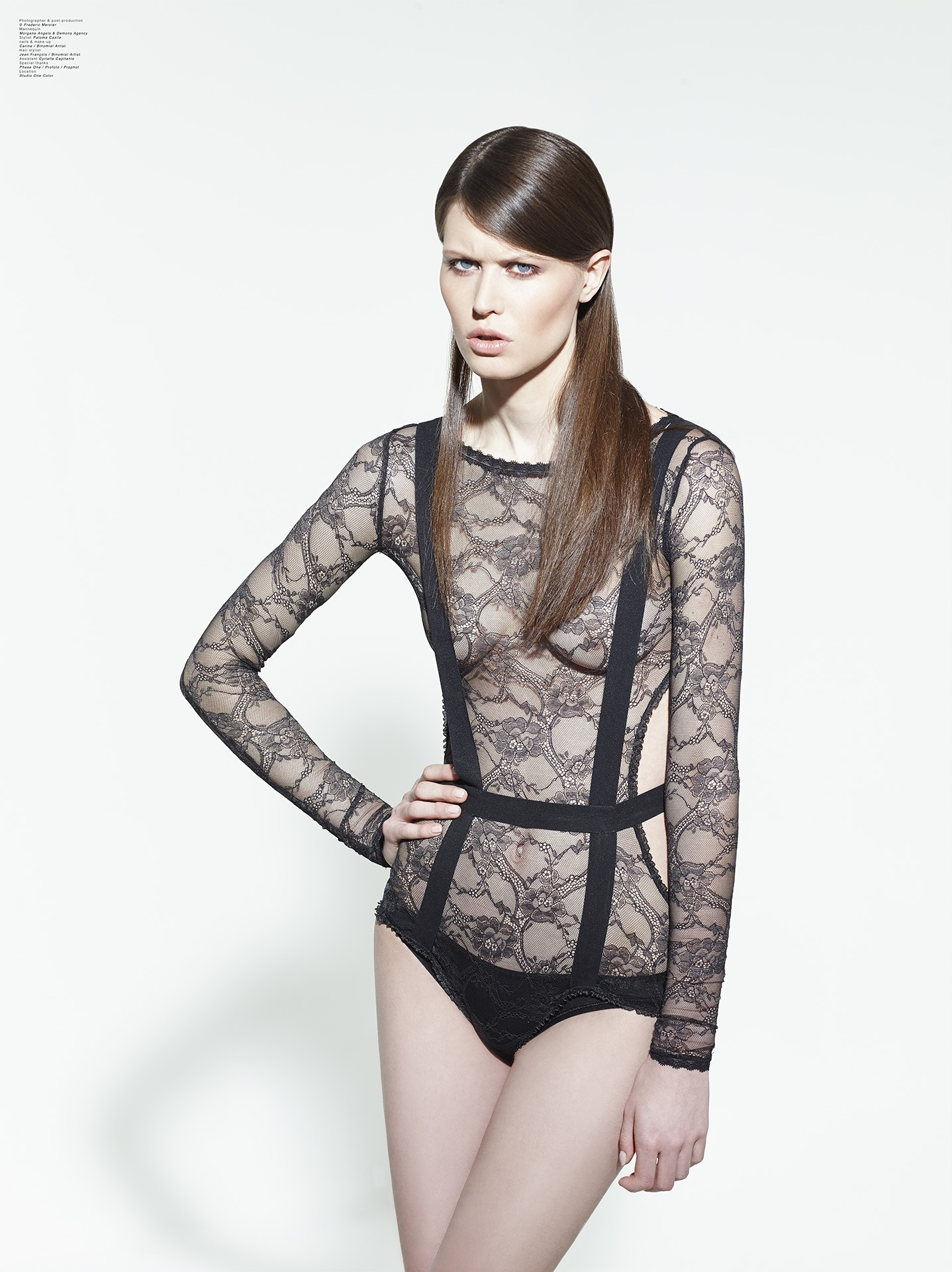paloma casile aw 2013 campaign lingerie underwear frederic mercier fashion photographer one color