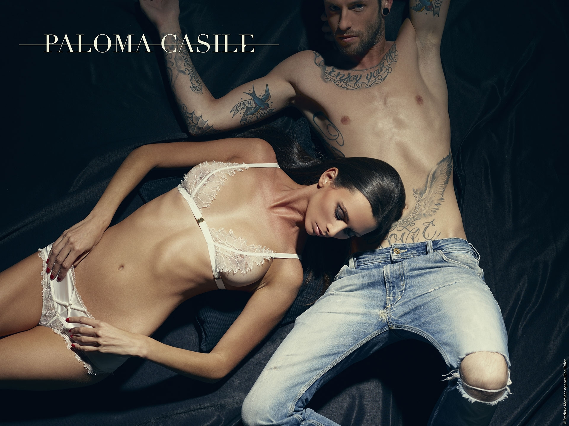 paloma casile ss 2014 campaign lingerie underwear frederic mercier fashion photographer one color