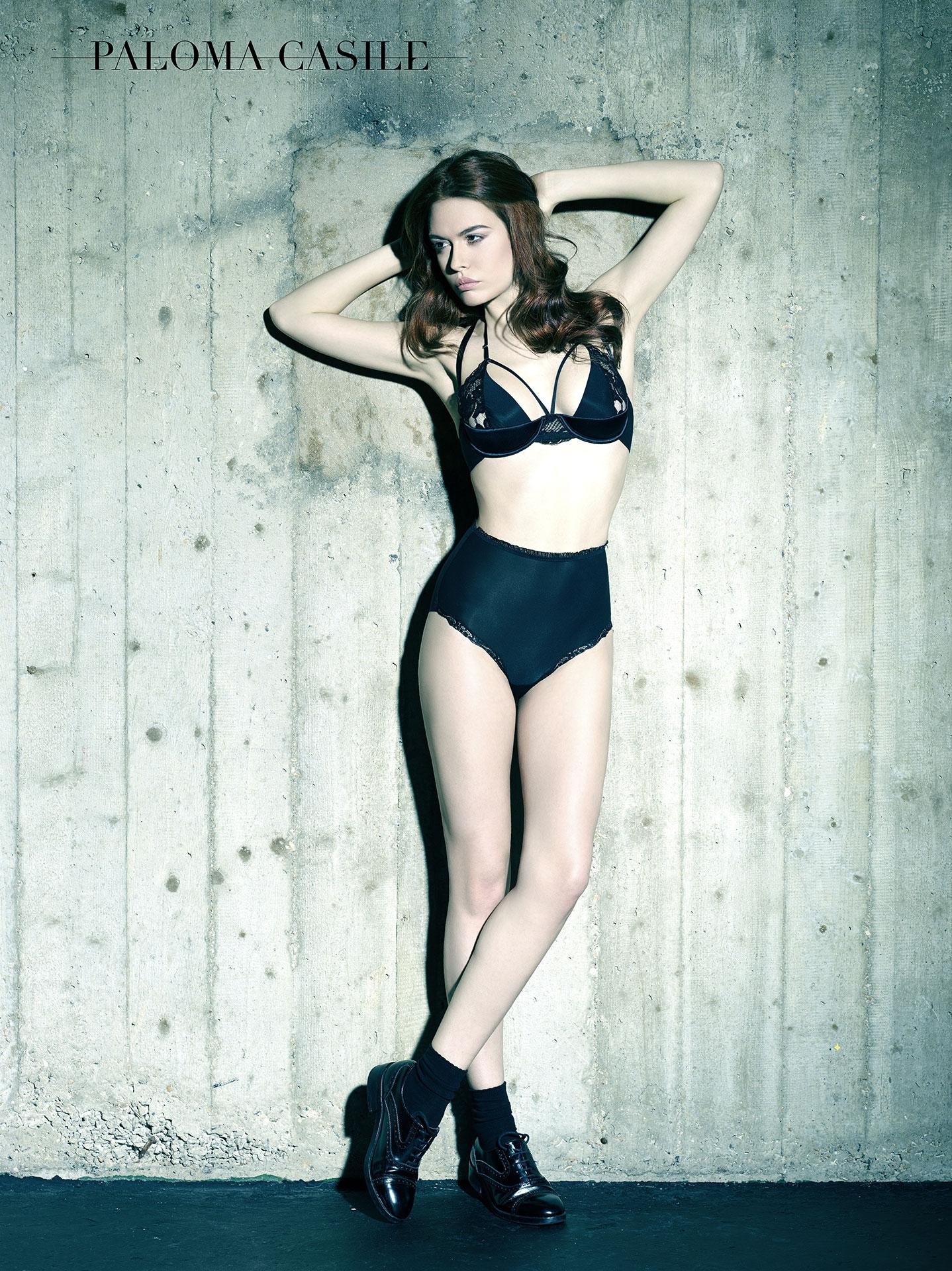 paloma casile aw 2015 campaign lingerie underwear frederic mercier fashion photographer one color