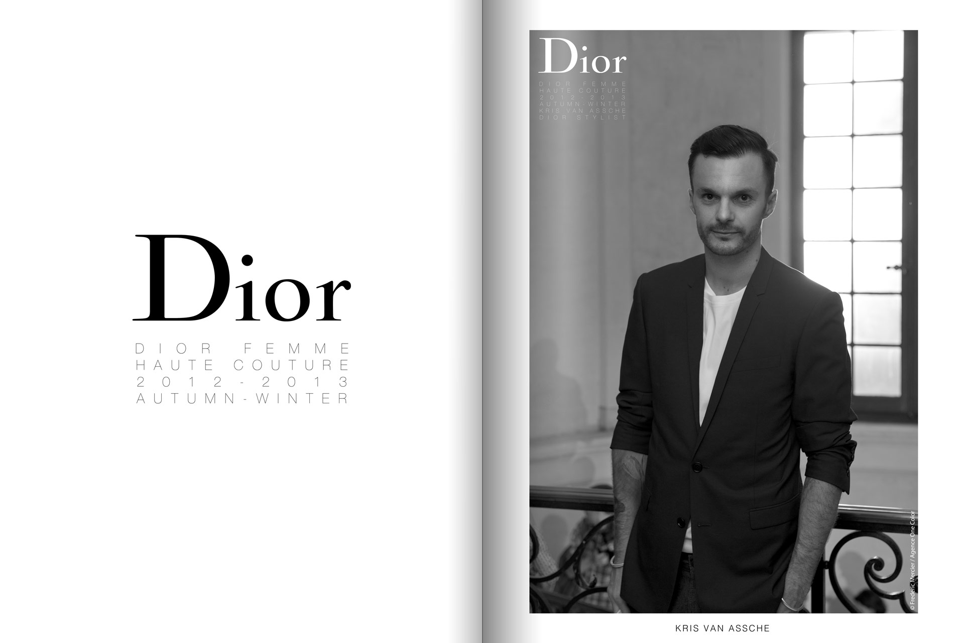 frederic mercier fashion photographer one color portraits people kris van assche for dior