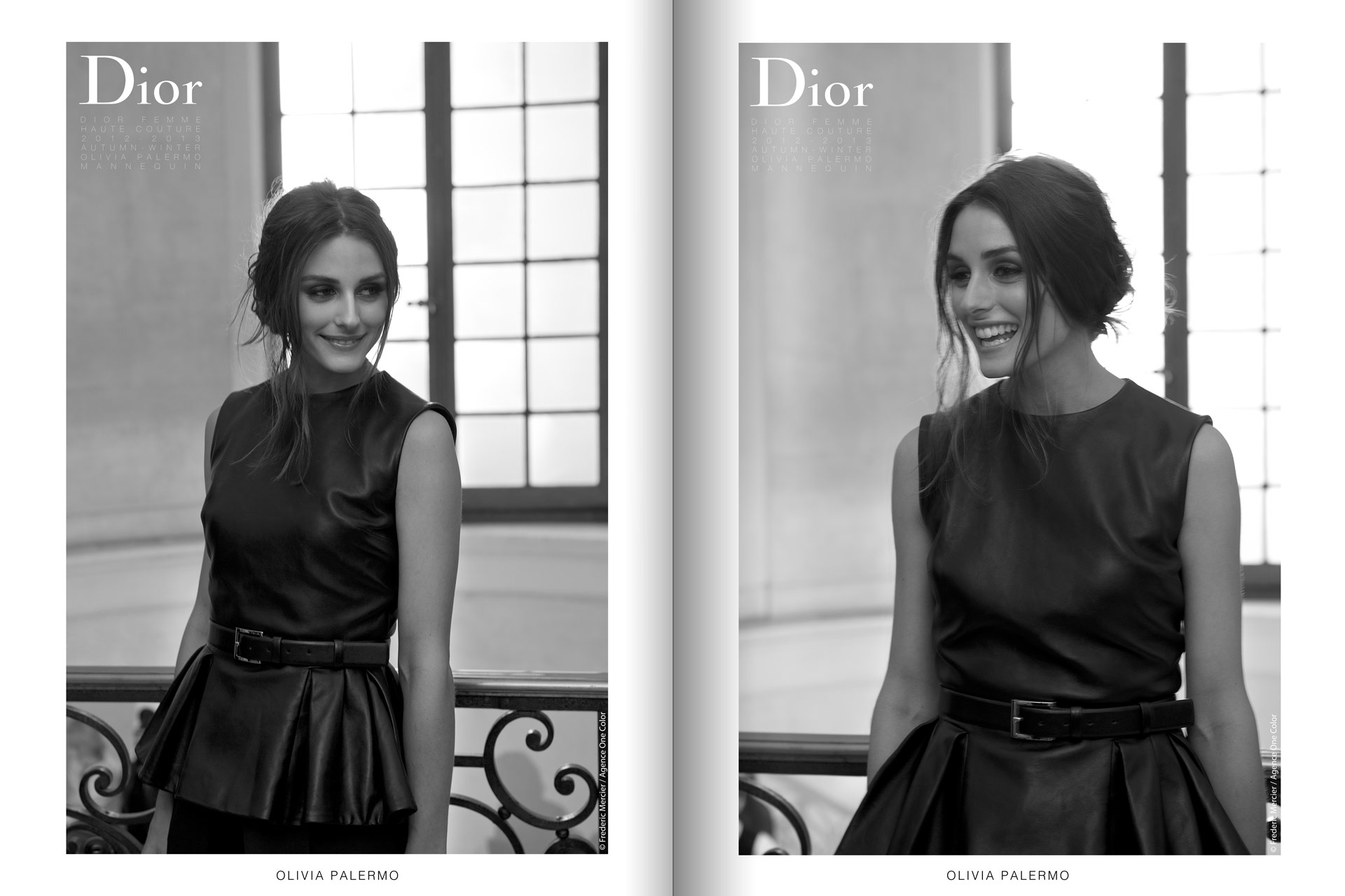 frederic mercier fashion photographer one color portraits people olivia palermo for dior