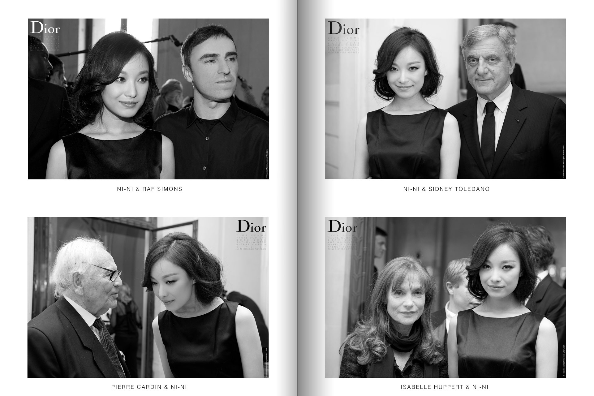 frederic mercier fashion photographer one color portraits people raf simons ni ni sidney toledano pierre cardin and isabelle huppert for dior