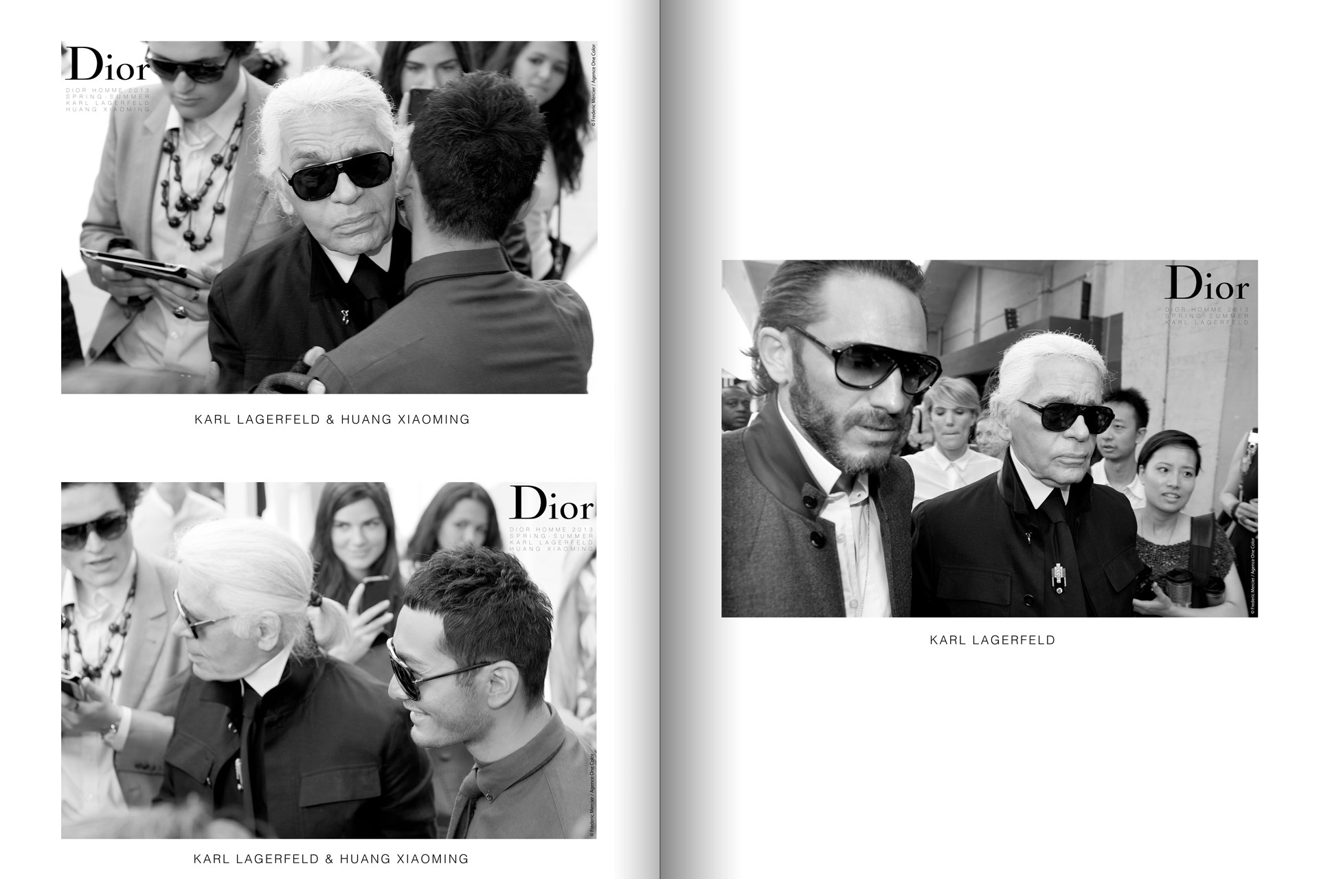 frederic mercier fashion photographer one color portraits people karl lagerfeld and huang xiaoming for dior