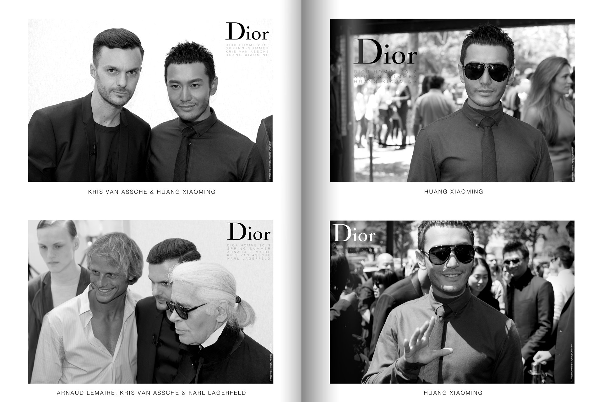frederic mercier fashion photographer one color portraits people kris van assche karl lagerfeld arnaud lemaire and huang xiaoming for dior