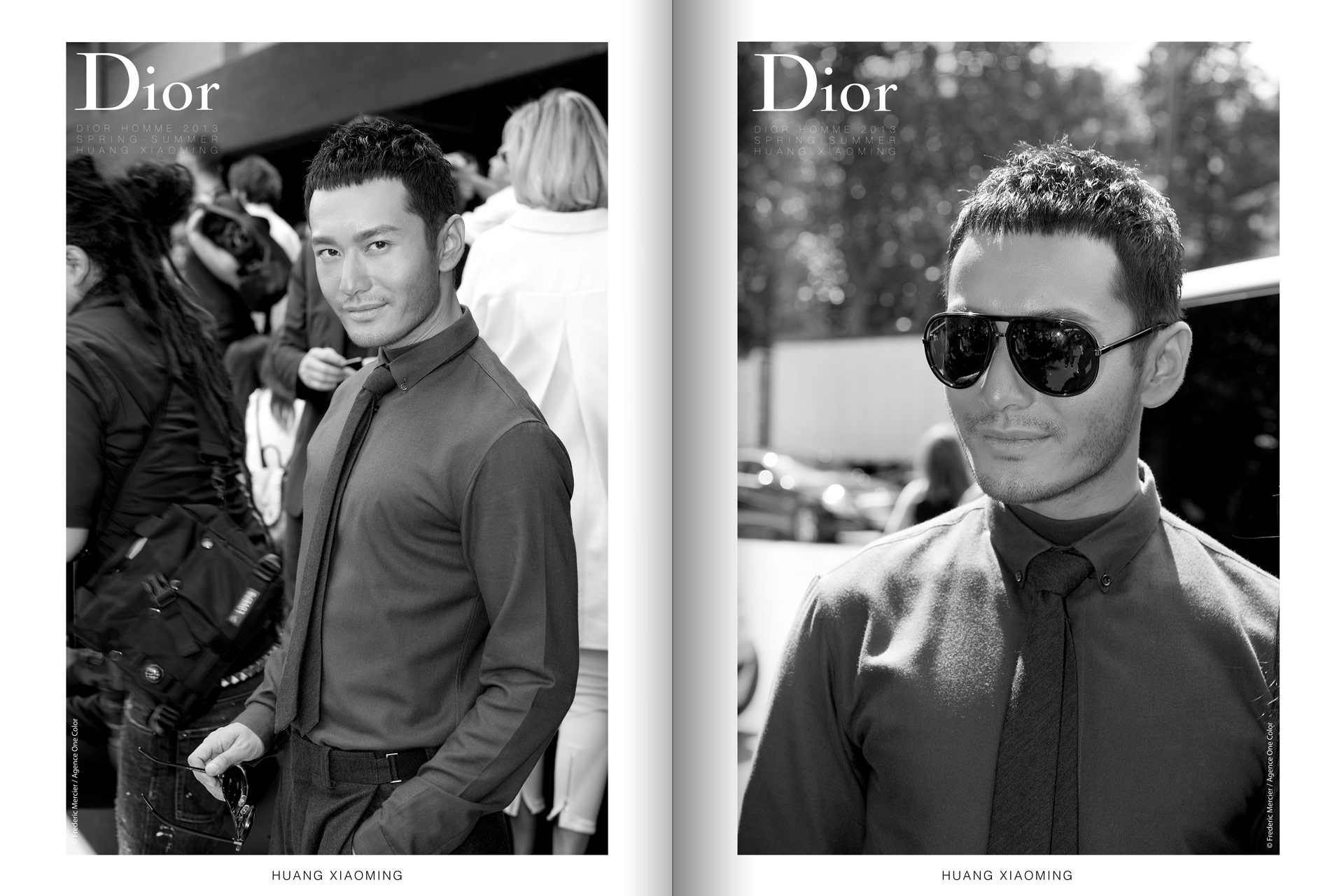 frederic mercier fashion photographer one color portraits people huang xiaoming for dior