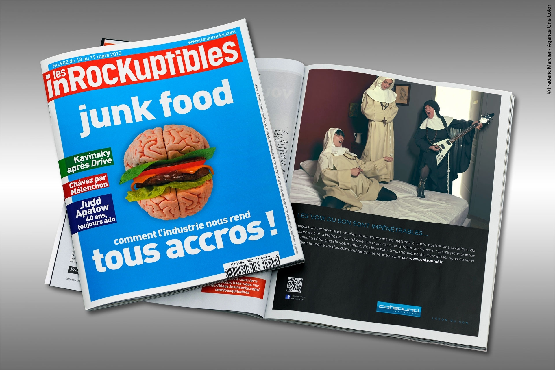 frederic mercier fashion photographer one color campagne publicitaire col sound parution les inrockuptibles inrock
