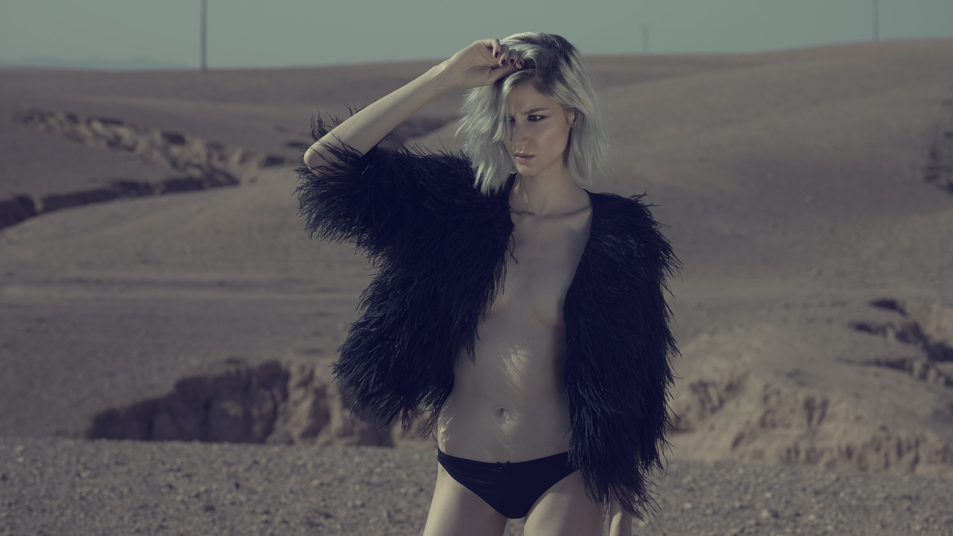 desert american wild lifestyle lingerie maje frederic mercier photographer one color