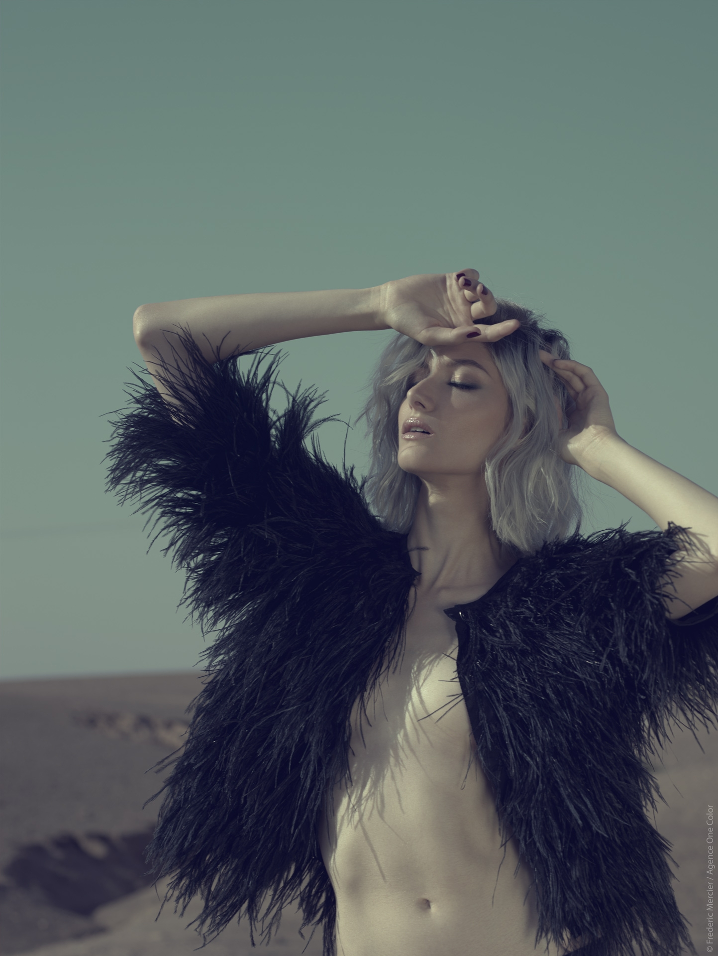 desert american wild lifestyle lingerie maje frederic mercier photographer one color