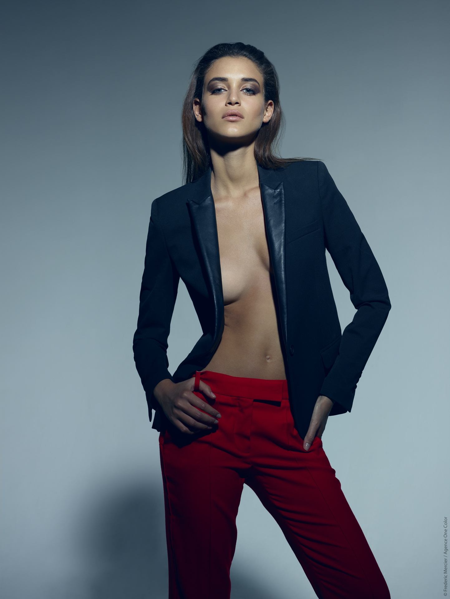 editorial model maje the kooples frederic mercier photographer one color