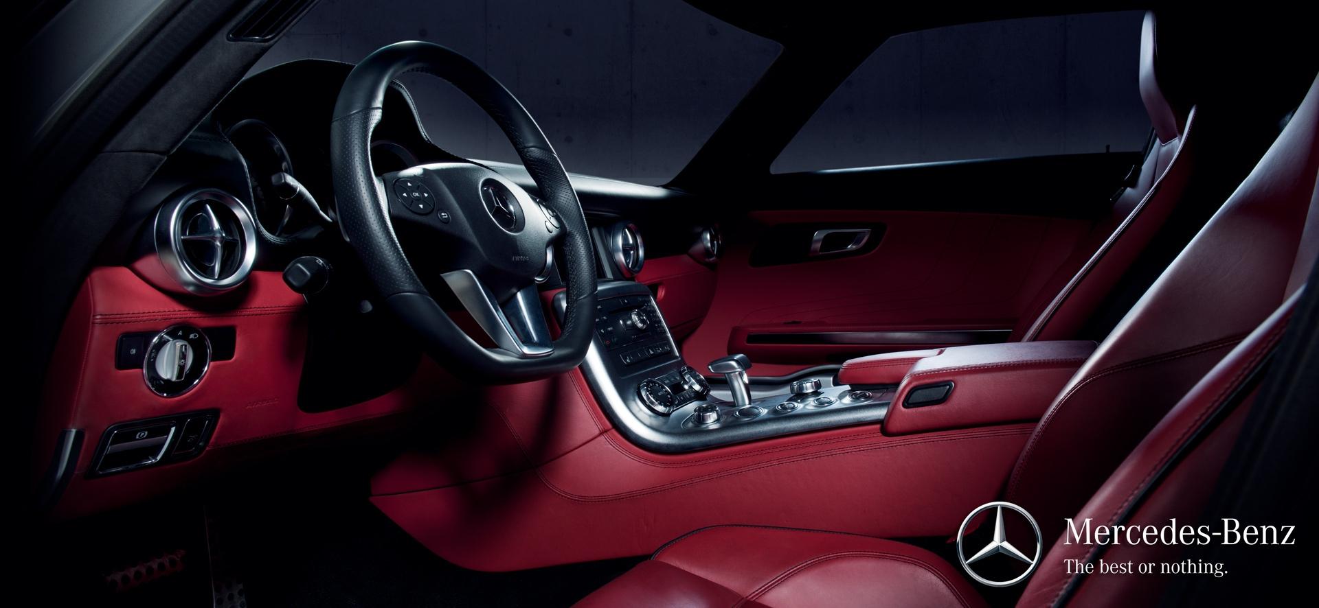 frederic mercier fashion photographer one color publicite packshot automobile voiture supercar mercedes sls amg