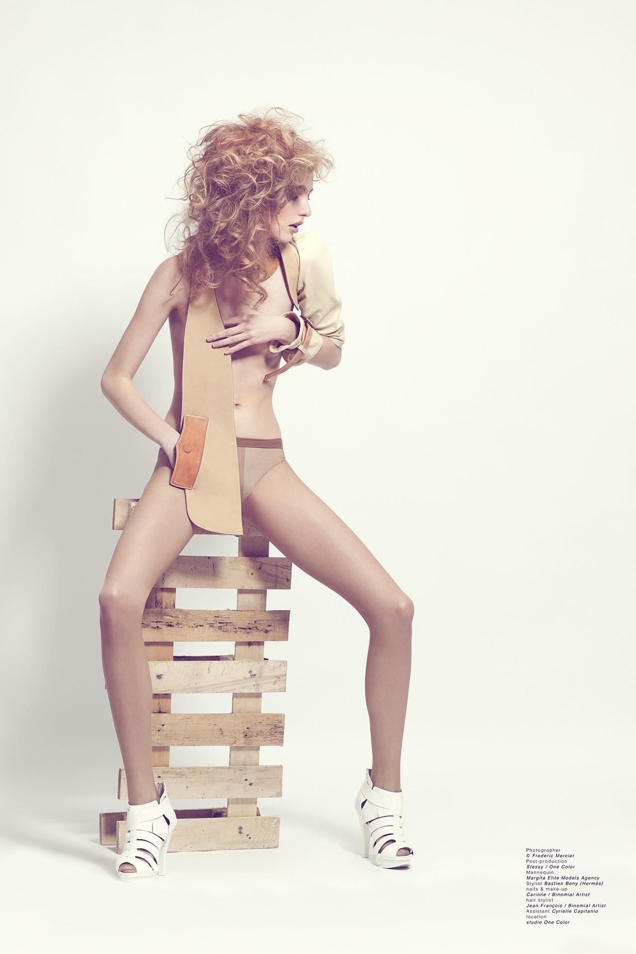 hermes frederic mercier photographer edito fashion bastien beny elite models one color