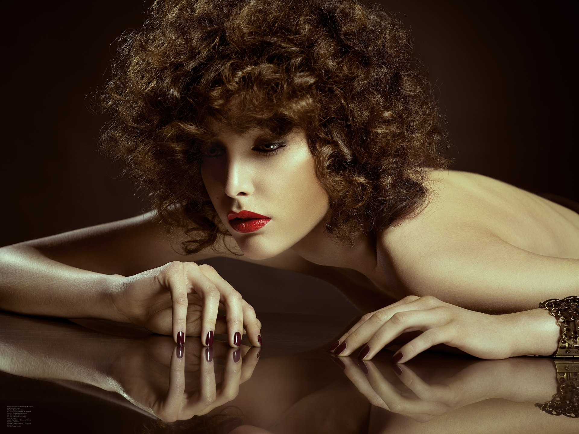 frederic mercier fashion photographer one color beauty hair make up afro