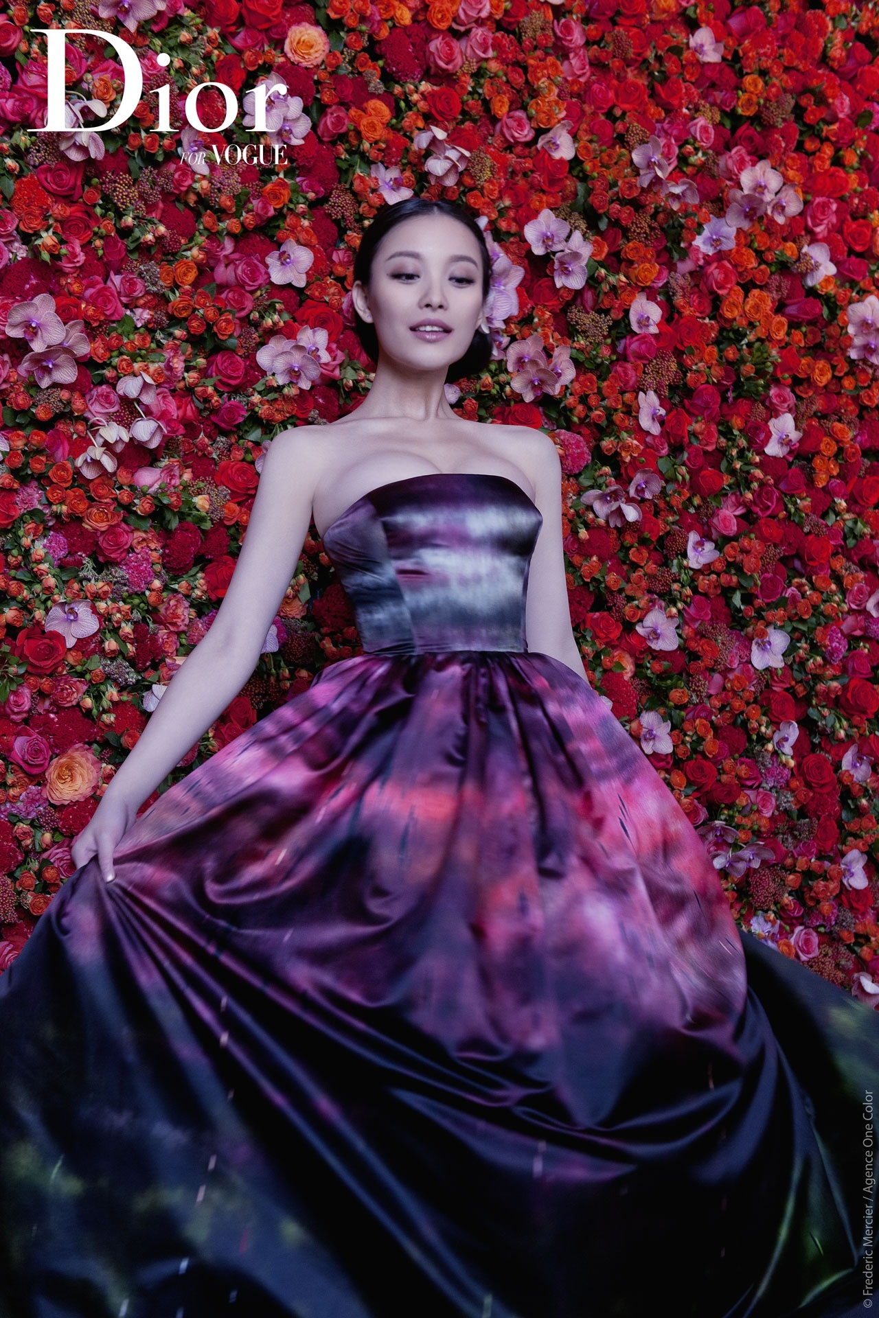 christian dior china editorial for vogue with chinese actress ni ni frederic mercier fashion photographer one color